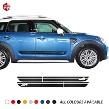 2pcs Door Side Stripes Skirt Sill Graphics Decal Sticker for Mini Cooper JCW Countryman F60 2017-Present Accessories