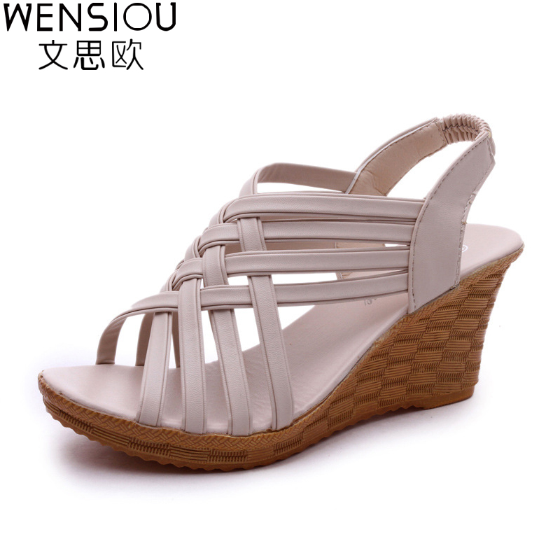 New summer Women Sandals Bohemia high platform comfortable Beach Sandal Flip Flops casual shoes Sandals women 2017 7-BT604 casual wedges sandals 2017 summer beach women shoes platform flip flops print sandal comfort creepers shoes woman