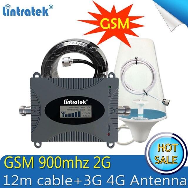 Lintratek GSM 900 мГц г 2 г мобильный телефон сотовый усилитель сигнала GSM 900 повторитель сигнала усилитель г 2 г 3g 4G антенны