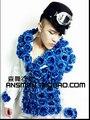 Exclusivo original 2015 nueva marca cantante bar discoteca DS hombres charm Blue Rose hebilla delgado traje Blazers de actuación en el escenario