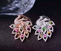 Natural multicolor tourmaline Ring Natural red ruby Ring Pendant 925 sterling silver Two wears Luxury Peacock women gift Jewelry