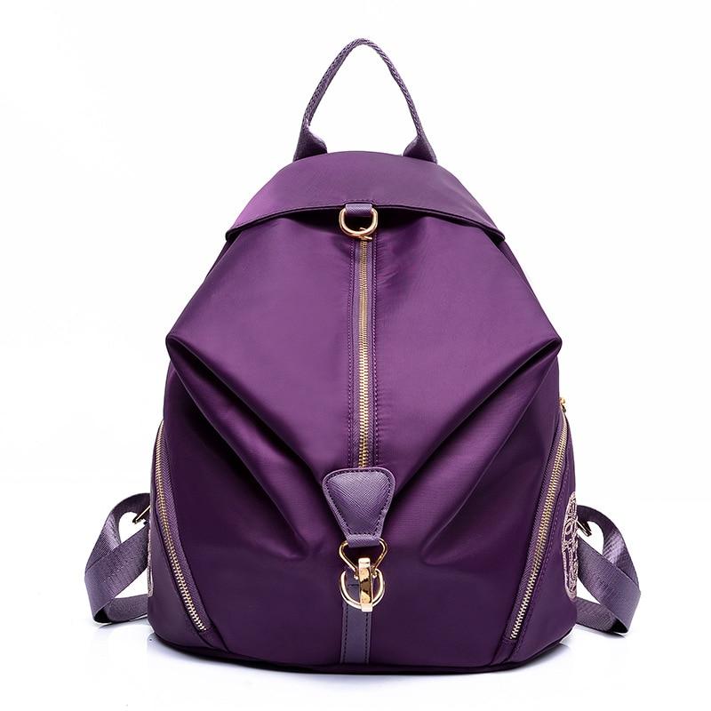 ФОТО Japan and Korean style women's waterproof backpacks fashion girl's Nylon school bag