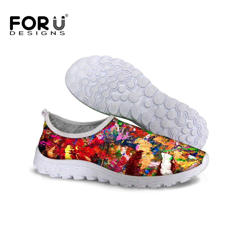 FORUDESIGNS Fashion Brand Women Casual Mesh Shoes,Summer Breathable Beach Network Lazy Shoes,Female Slip-On Flat Platform Shoes 2017 summer style women casual shoes swing shoes flat breathable air mesh fashion shoes platform feminino slip on red 40 lesiure