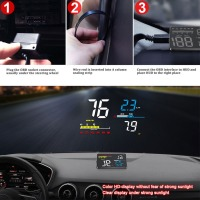 D5000 Head Up Display Obd Film Smart Display Speedometer Temperature Car Electronics Speed Projector On The Windshield New