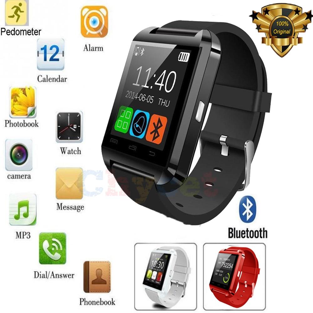 Deporte U8 Bluetooth relojes inteligentes Android smartWatch pantalla  táctil para IOS teléfono Android U8 deportivos reloj PK Q18 GV18 542285531d4