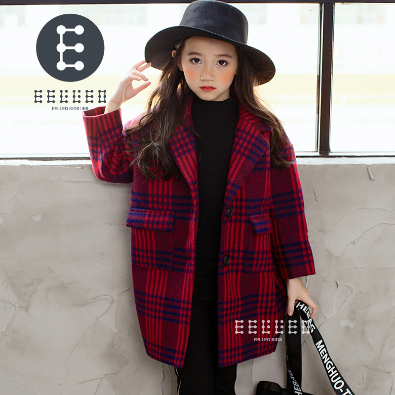 2017 Autumn Winter Jacket For Girls Plaid Coats Kids Warm Wool Outerwear Coat Children Good Quality Jacket Girls Clothes fashion 2017 autumn winter kids girls warm outerwear jacket turn down collar one button plaid wool coat children girls clothes