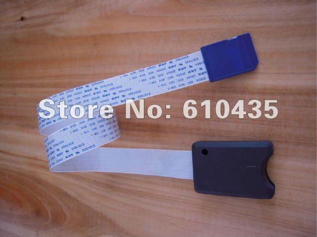 Free shipping SD card extension cable sd card reader for car GPS and DVD