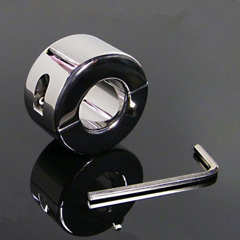 Extreme Stainless Steel Cockring Polish Ball Stretcher Men Fetish Penis Cock Ring Gear Scrotum Testicle Stretched Cuff Sex Toy 620g weights testicle balls scrotum pendant stainless steel ball stretchers cock ring locking real men cbt sex product