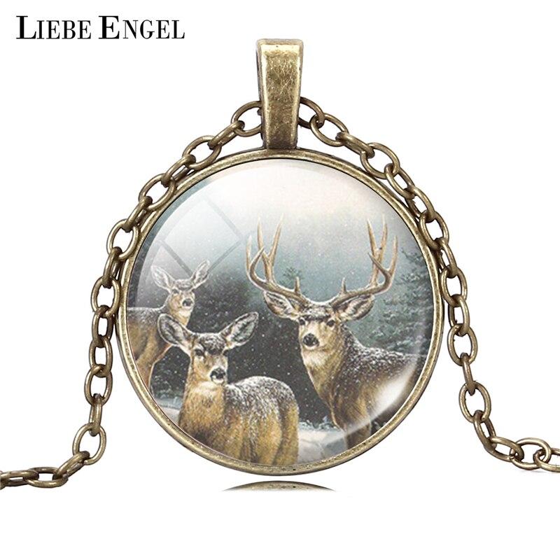 schmuck frauen tier giraffe bronze kette lange halskette anhänger leder