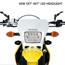1x65W 5x7 6x7 motorcycle led headlight replacement dual sealed beam for 4x4 off road Kawasaki Street-Legal Off-Road Motorcycles 2pcs 5x7 7x6 inch led sealed beam headlight h low beam for h6054 h6014 h6052