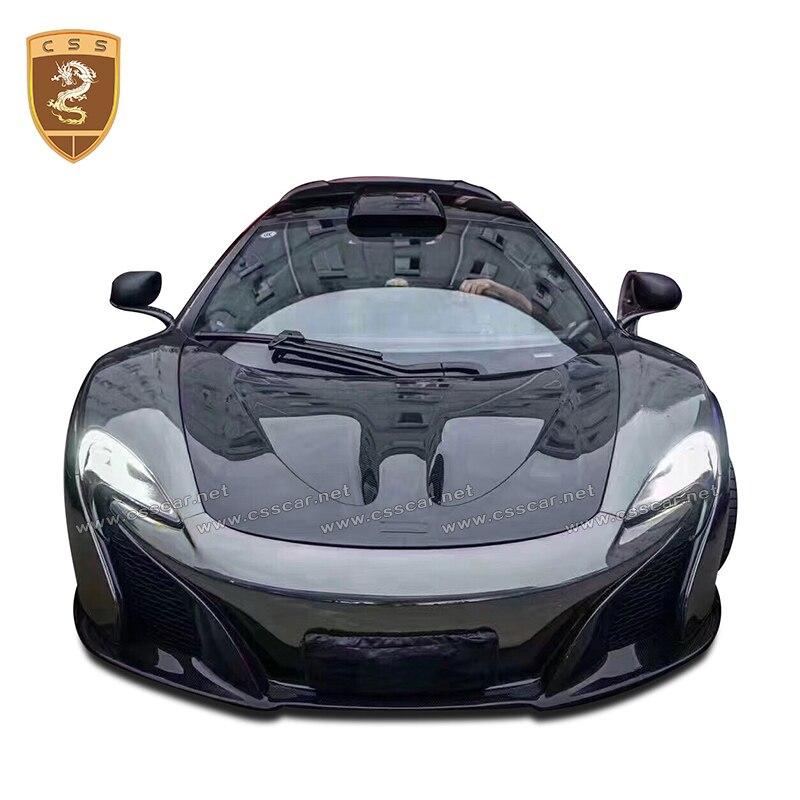 CSSYL araba modifiye aksesuarları için vücut kiti McLaren 650s % 100% karbon Fiber davlumbaz araba Styling karbon Fiber motor kapağı toptan