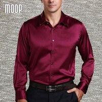 American style 3 colors solid business silk shirt men shirts silk chemise homm camiseta masculina camisa masculina LT381