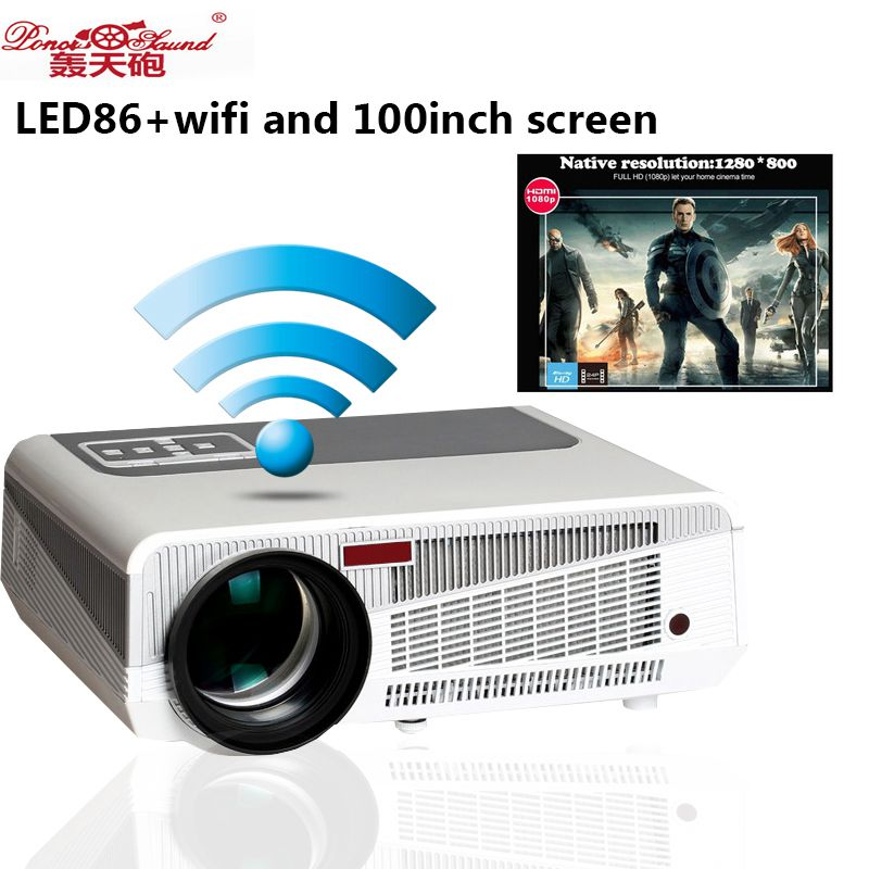 Poner Saund Led Hd Projector 5500 Lumens Beamer 1080p Lcd: Poner Saund Hot Selling Full HD Projector 5500 Lumens LED