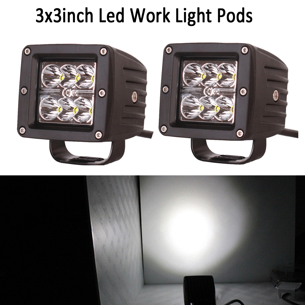 2 шт. 24 Вт 3 inch Spot Led Подсветка двойственно светодиодные лампы IP68 лодка свет Off Road 4wd грузовик f150 Tacoma бампер светодиодный фонарь