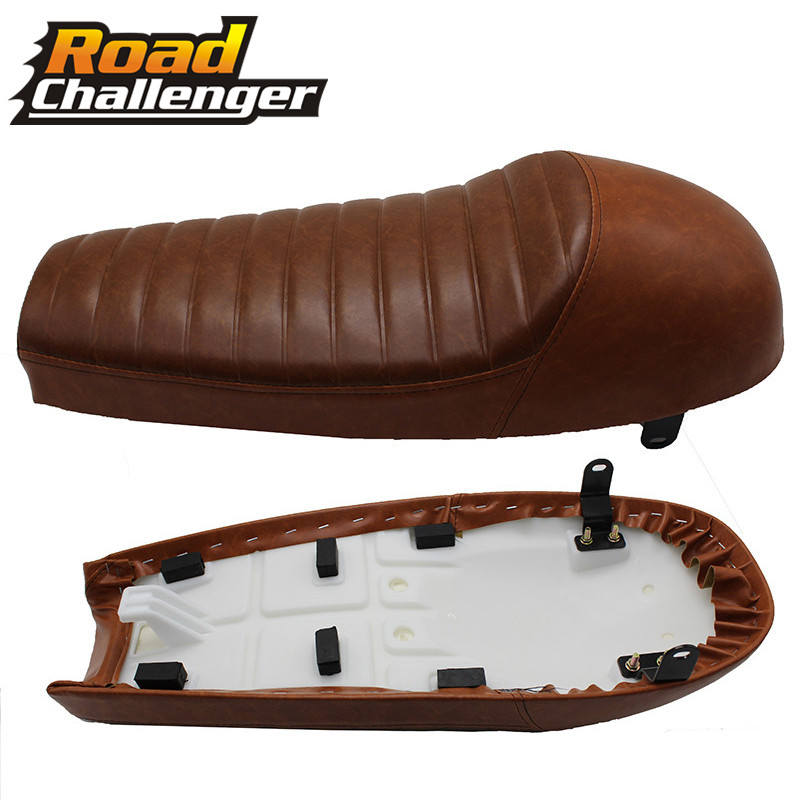 Universal Motorcycle Hump Cafe Racer Retro Seat For Suzuki For Honda CB CG For <font><b>Yamaha</b></font> <font><b>SR400</b></font> <font><b>SR500</b></font> XS650 64cm image