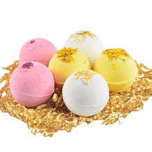 Buy 6pcs Natural Bath Salt Bubble Shower Ball Essential Oil Multiple Skin Moisturizing Exfoliating Pure plant extract Bubble Ball directly from merchant!