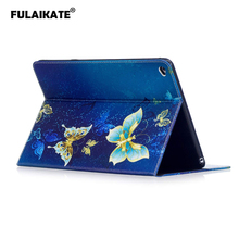 FULAIKATE For iPad Air2 Flip Case Cartoon Soft Back Cover for iPad 6 Card Slot Stand Color TPU Business Tablet Protective Cases