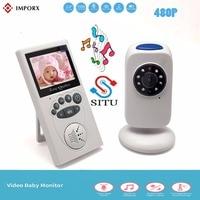IMPORX Wireless 2.4LCD Audio Nanny Video Baby Monitor GB101 Radio Music Intercom IR 24h Portable Baby Camera Baby Walkie Talkie