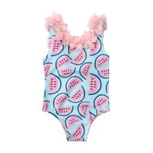 Toddler Infant Baby Girl Flower Backless Bodysuit Sunsuit Kids Girls Summer One-piece Swimsuit Swimwear Swimming Bikini