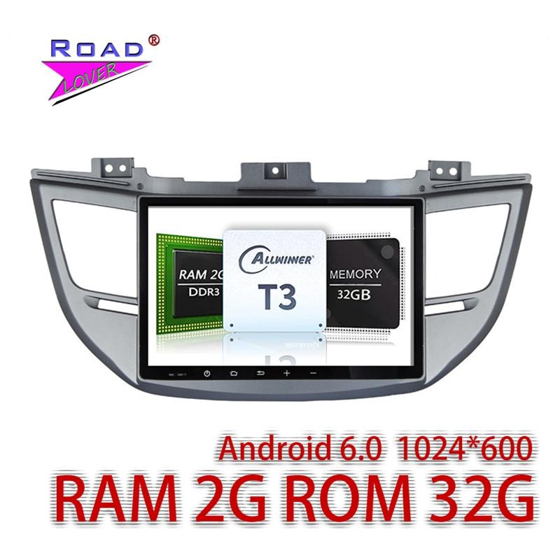 Wanusual 2 г + 32 ГБ Android 6.0 10.1 «Car Media Center аудио для Hyundai Tucson 2015 стерео GPS navi Авто плеер нет dvd двойной din