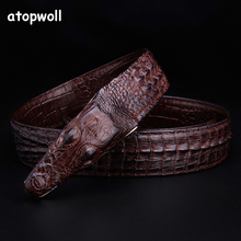 Luxury cow Leather Designer Belt Men High Quality crocodile famous brand smooth Buckle Belts ceinture homme