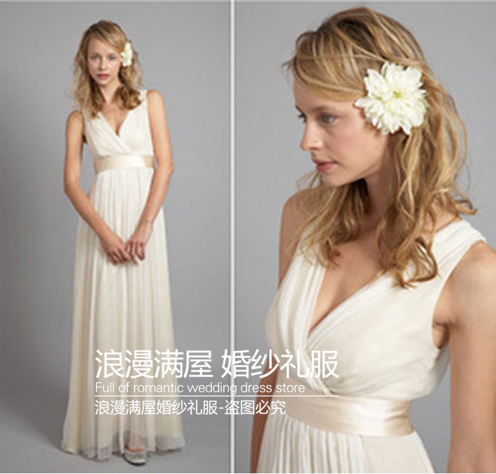 free shipping new design summer party Formal gown vestido de renda vestido longo <font><b>2014</b></font> <font><b>sexy</b></font> v-neck long evening elegant dress image