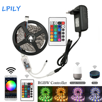 LPILY 5M RGBW led Strip 10M RGBW lED Strip Light neon tape 15m led Ribbon Smart WIFI led strip and 24 key controller full set