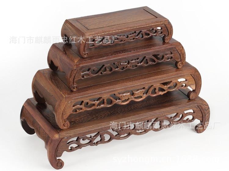 Pioggia Zhong Mogano Wenge Legno Artigianato Giada Base Arrotondato Tavolo Rettangolare Table Rectangular Table Tabletable Round Aliexpress