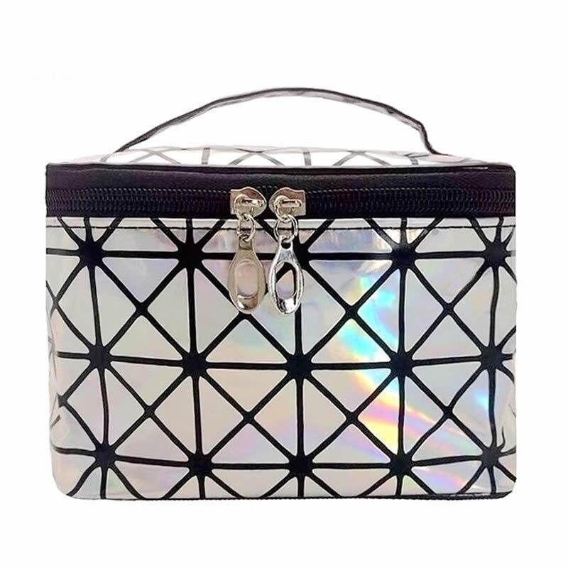Fashion Laser Make Up Bag Organizer Women Zipper Cosmetic Case Travel Storage Box Portable Makeup Pouch Toiletry Beauty Wash Kit