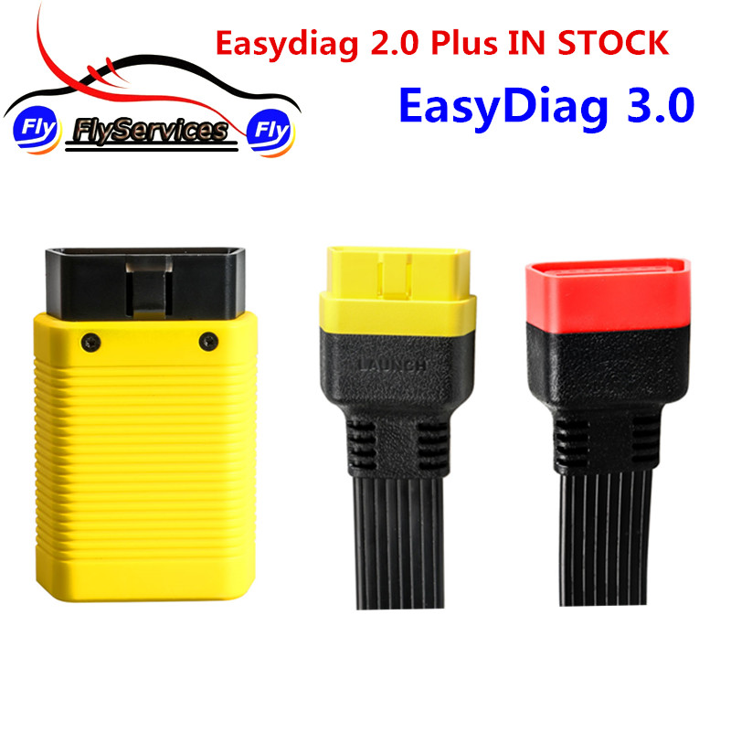Launch EasyDiag 3.0 For Android & iOS 2 in 1 EasyDiag 2.0 Plus For Injector Battery SAS Immo Gear DPF Odometer TPMS Break Test