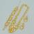 África Conjunto de Jóias de Casamento Colares Brincos Pulseiras, BANHADO A OURO Jóias Nigéria/Brasil/Cuba/Árabe conjuntos de Colar #002801