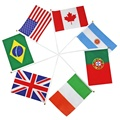 Vendas quentes do mundo pequeno mini mão bandeira de todos os tipos de país