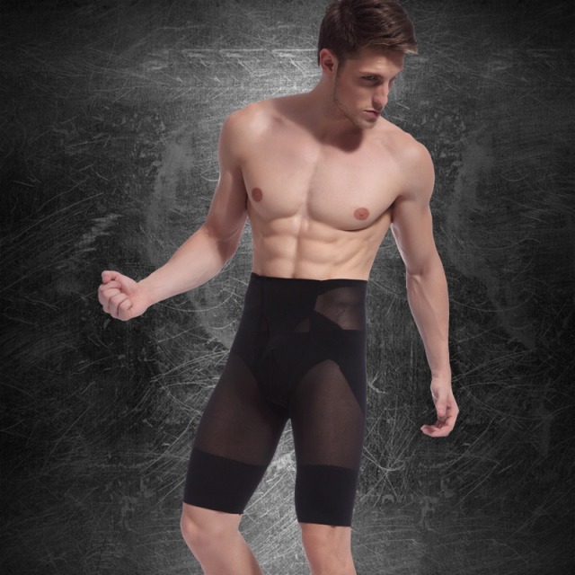 Men's Body Slimming Shorts Waist Tummy Control Leg Belly Shaper Underpant Underwear Compression Pant  Stretch Tight Pants