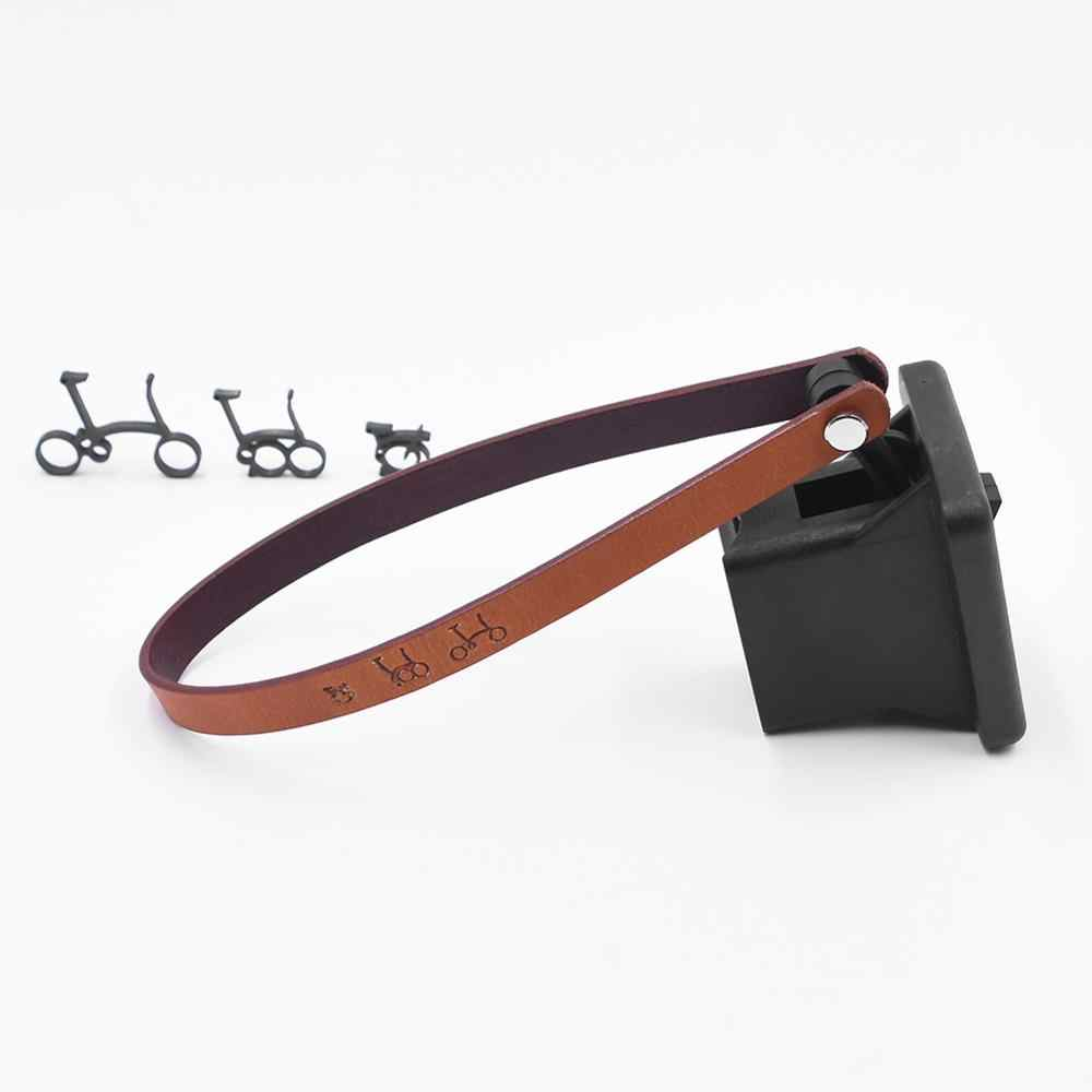 TWTOPSE Quick Release Bike Bag Carrier Block Leather Tape Strip For Brompton Folding Bicycle Front Rack Carrier Block Holder
