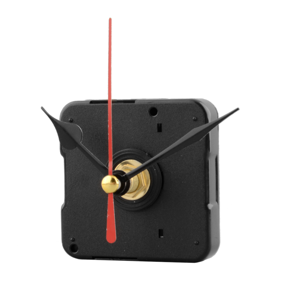 2017 New Red Stitch Silent Movement Quartz Clock Movement Mechanism Reparera DIY Tool Kit utan Hook drop shipping