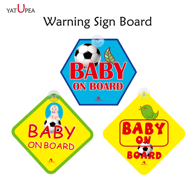 3 pc Baby On Board Placa De Sinal de Alerta Reflexivo Etiqueta Do Carro etiqueta do carro removível Automobiles Carro-styling Acessórios do Exterior