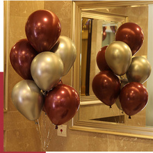 50 Pcs/Pkg Red Pomegranate Balloon Heart-Shaped 12 Inch And 10 Gemstone Romantic Wedding Decoration