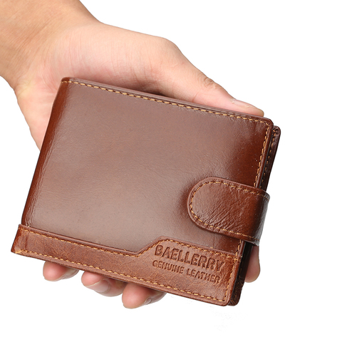 Famous Luxury Brand Men Wallet Genuine Leather Card Holder Wallet Male Coin Pocket Short Clutch Wallets Leather Bifold Men Purse Lahore