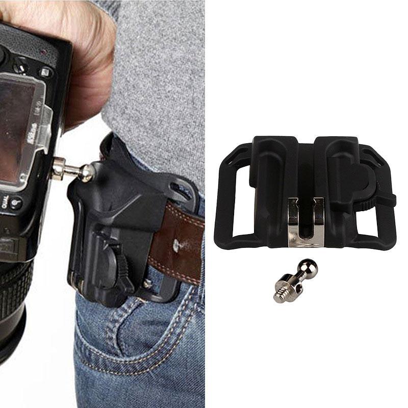8.5 * 9 * 3.5 Cm Carrying Hanger Waist Belt Buckle Button Mount Holder Clip For DSLR Camera Compact Black 2019 Hot New