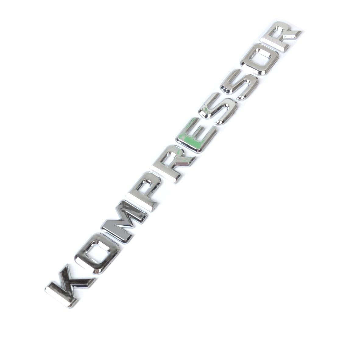 DWCX 3D Krom KOMPRESSOR Rozeti Amblem Sticker Mercedes Benz SLK CLK SL CLS ML GL A B C E S Sınıf CL55 SLK200 C180 CLC200