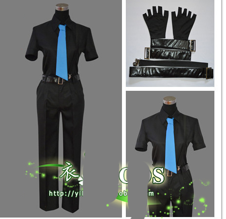cf969bffa9f5 Assassinat Classe Cosplay Shiota Nagisa Noir Combat Costume avec ceinture  et gants dans de sur AliExpress.com   Alibaba Group