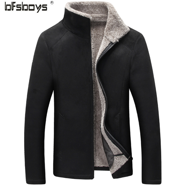 2016 new arrival winter High quality suede fur casual faishion jacket men,winter wool coat men,plus-size 2 colors,free shipping
