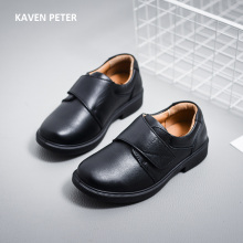 Genuine leather shoes children 2017 black genuine leather formal shoes boys school shoes kids casual cow leather sneaker