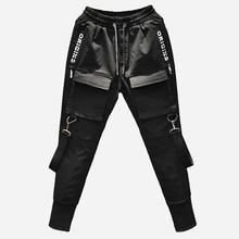 New 2018 Mens Fashion Personality Slim Elasticity Haran Pants Multi Pocket Tootsies Singer Costumes