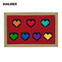 7pcs/set Game Undertale Papyrus Sans Frisk Bravery LOVE Heart Pendant Necklace Cosplay Jewelry Gift With Box