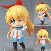#421 new 10cm Cute Nendoroid Nisekoi Chitoge Kirisaki Anime Action Figure PVC Collection Model toy стоимость