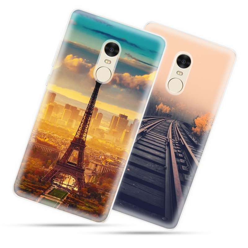 Красочный Пейзаж Pattern Окрашенные Телефон Cover Case Для Xiaomi Mi5 Mi МАКС Redmi 3 Note 3 Примечание 4 Мягкий Силиконовый ТПУ Оболочки Fundas купить на AliExpress