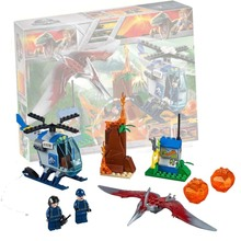2018 New legoing 10756 96pcs Jurassic World The Pteranodon Escape Model Building Block Toys For Children Bela 10918 Gift