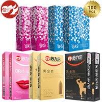Beilile Спайк презервативы 100 шт/72/62/60 шт. Задержка эякуляции презерватив для Для мужчин петух пенис рукав для секса природа интимные Товары