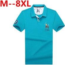 8XL 6XL 2017 Summer Masculina Cotton Ralphmen Crocodile Polos Shirts Men Short Sleeve Slim Breathable Famous Brand Men's Homme